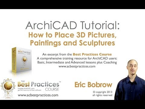 ArchiCAD Tutorial | 3D Pictures and Sculptures