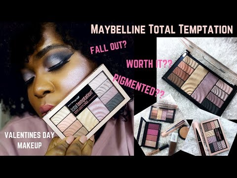 DRUG STORE MAKEUP TUTORIAL 2018| MAYBELLINE TOTAL TEMPTATION COLLECTION| REVIEW
