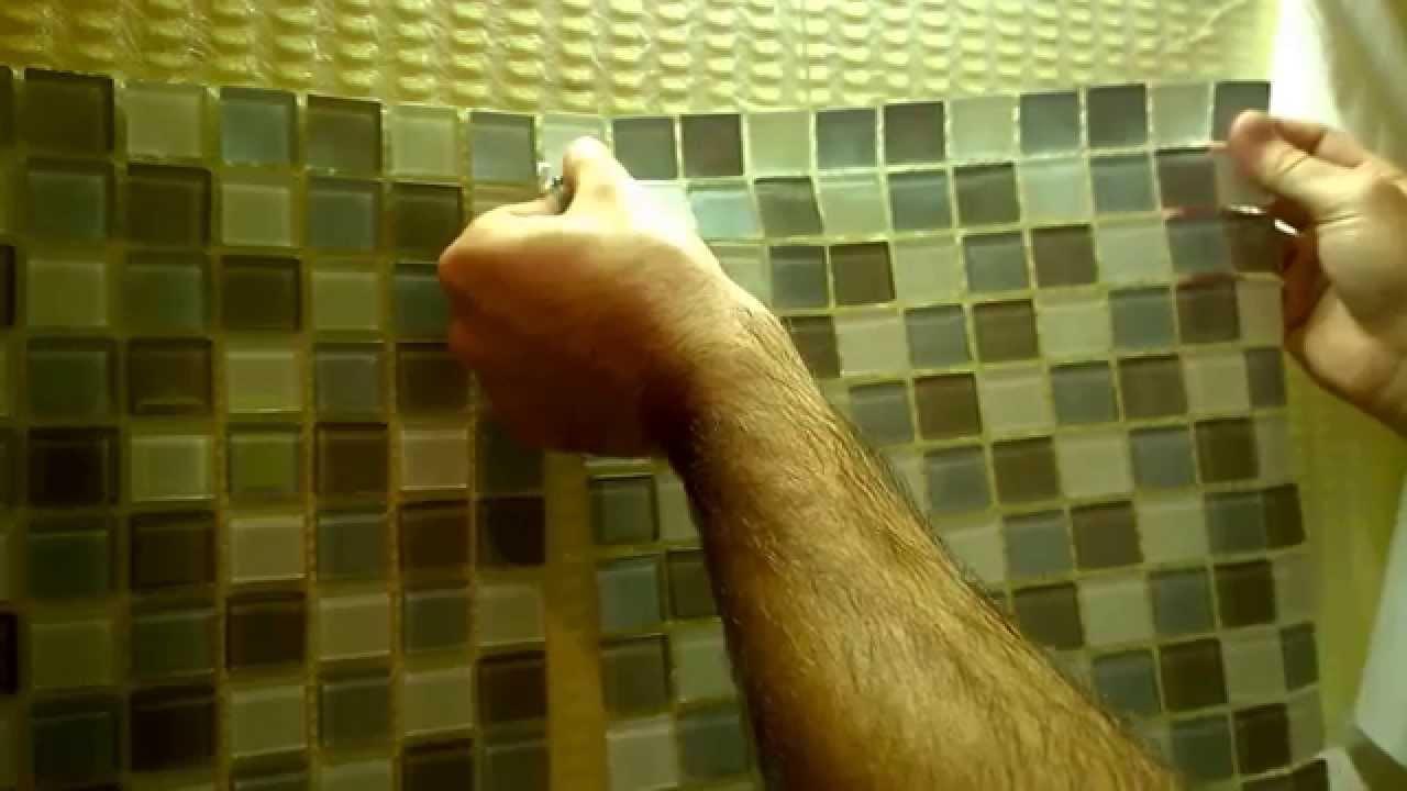 Kitchen Backsplash DIY Home Improvement(Step-1 Simplemat Tile Setting) -  YouTube