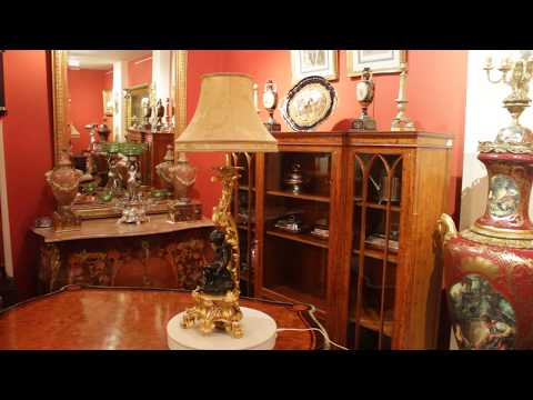 Antique Pair French Ormolu & Patinated Bronze Table Lamps