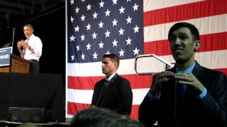 president obama speech at rollins college with asl interpreter adam ledo part 2