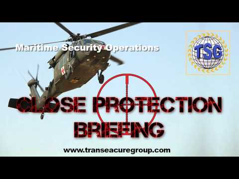 Maritime Security Operations - Close Protection Briefing Pod