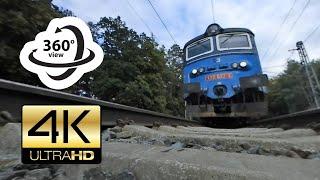 360° camera under freight train (4K)