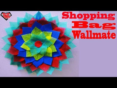 How To Make Carry Bag Wall Hanging ||  Best Out Of Waste