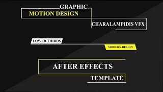 Modern Design Lower Thirds After Effects Tutorial