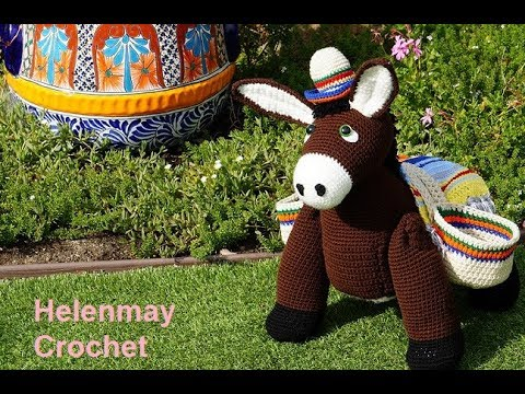 Dodee the Donkey Amigurumi Crochet Pattern - English, Dutch, German | 360x480
