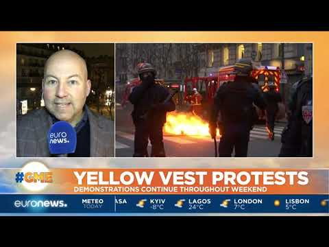 Yellow Vest protests continued throughout the weekend in France | #GME