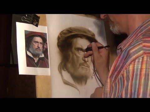 The Merchant of Venice Airbrush Portrait