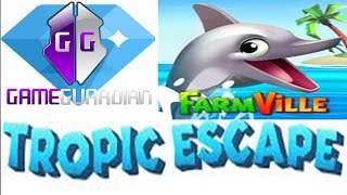 Game Guardian e FarmVille tropic escape