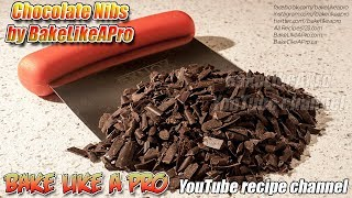 EASY Chocolate Decoration Tutorial   Chocolate Nibs by BakeLikeAPro