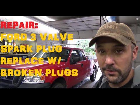 Ford F Series 5.4 3 Valve: Broken Spark Plug Removal