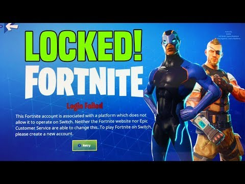 How To Use Epic Games Account on NINTENDO SWITCH FOR FORTNITE! Fortnite Account LOCKED!