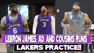 Lakers Practice |  Lebron James, Anthony Davis are happy with their roster and Demarcus Cousins Runs