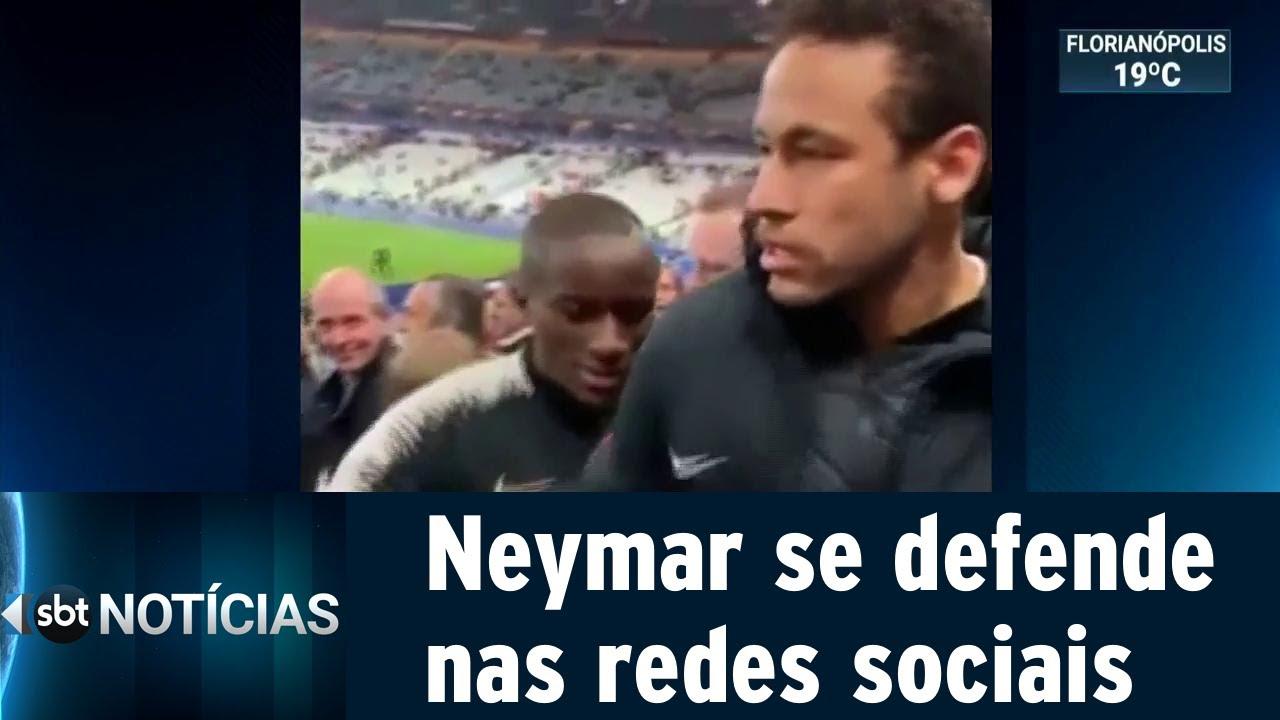 Neymar pede desculpa por soco em torcedor na final da Copa da França | SBT Notícias (29/04/19)