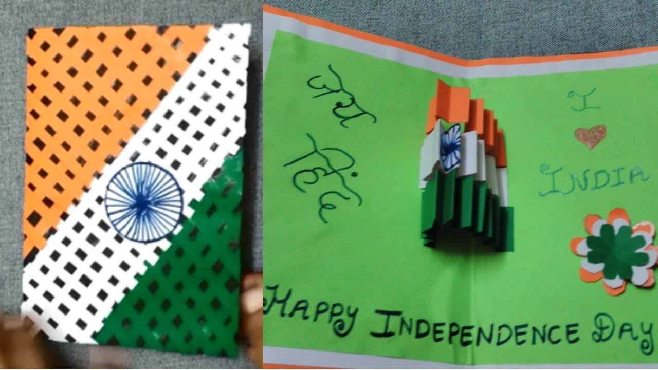 How to make Greeting card for Independence Day  Card idea ...