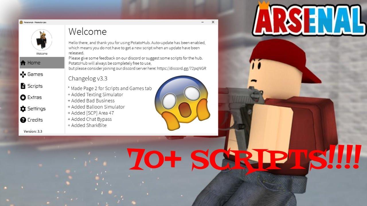 Roblox Potatohub Free Scripthub 70 Scripts Updated Youtube