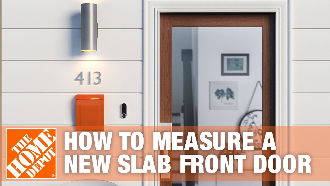 How To Measure For A New Slab Front Door Youtube