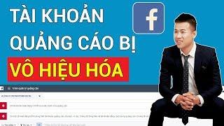Tài khoản quảng cáo Facebook bị vô hiệu hóa(gắn cờ) - Cách khắc phục nhanh nhất
