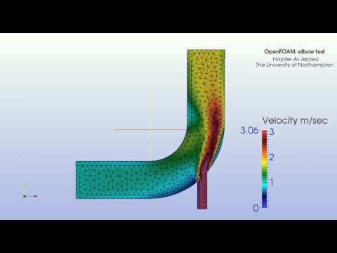 OpenFOAM simulation elbow test