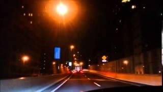 夜の首都高のドライブ動画です。 汐留~新宿~中央道 1.Free TEMPO - Tw...