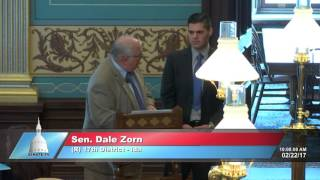 Sen. Zorn honors Corey Welch at Michigan Senate