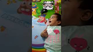 Sweet baby laughing on rhymes
