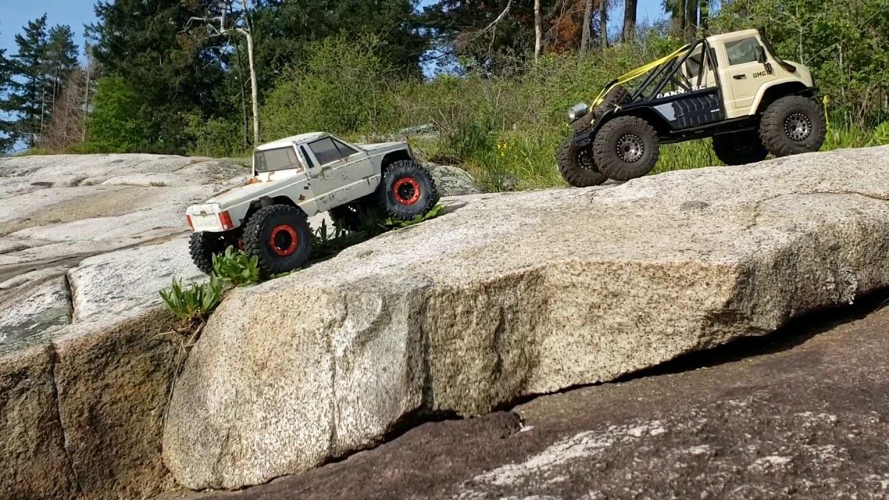 Scx10 2 Unimog portal axles 2nd Part with Toyzuki v2 and Scx10 2 Jeep