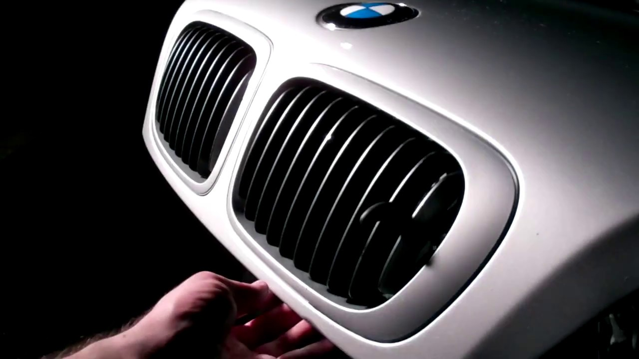 how to bmw e46 e46 m3 front kidney grill removal. Black Bedroom Furniture Sets. Home Design Ideas