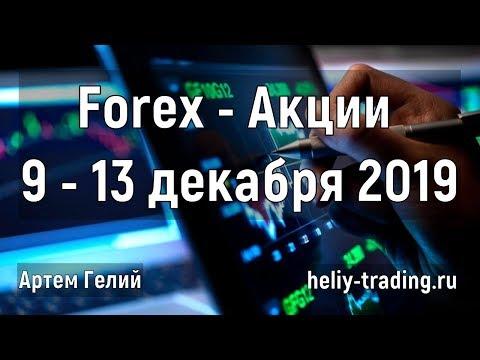 Прогноз форекс и акций на неделю: 9 - 13 декабря 2019