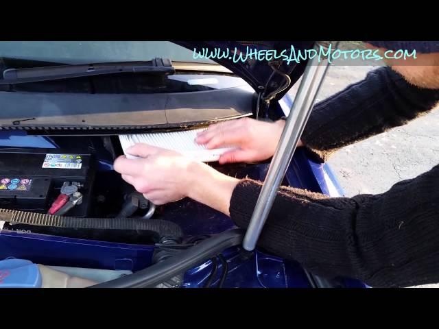 VW Passat (B5+, B5.5, facelift) service: how to change pollen filter (cabin air filter).