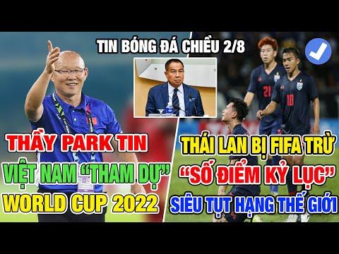 """TIN BÓNG ĐÁ VIỆT NAM CHIỀU 2/8: HLV PARK HANG SEO TIN VIỆT NAM SẼ """"THAM DỰ"""" WORLD CUP 2022"""