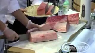 Tsukiji Dojo  Kama toro, O toro, Chu toro and Hagashi toro