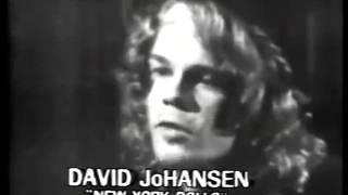 New York Dolls footage Local TV Story, 1973.