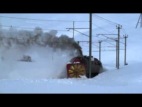 Thumbnail: Switzerland - RhB Steam Snow Blower - Steam power only, 2011