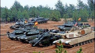 NATO's tanks fleet shows firepower near Russian border - Exercise Iron Tomahawk