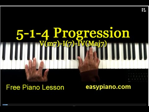 5- 1- 4 chord progression piano lesson