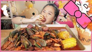 SPICY SEAFOOD BOIL | MUKBANG