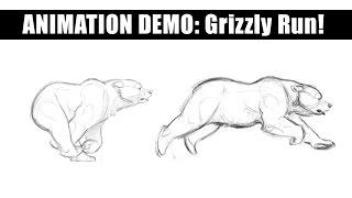 Aaron Blaise Live Stream - Animation - a Bear Running
