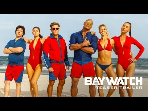 BAYWATCH MOVIE OFFICIAL  TRAILER  1      Dwayne Johnson Movie Poster