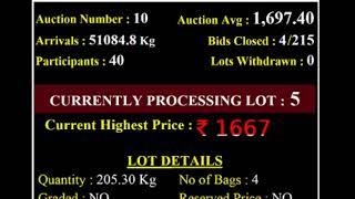 Spices Board India Bodinayakanur - E Auction Live -MAS  20/10/2020