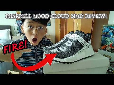 ADIDAS X PHARRELL WILLIAMS MOOD CLOUD NMD REVIEW+ON FOOT!