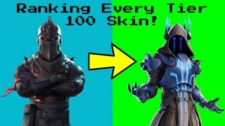Ranking *EVERY TIER 100 SKIN* As of Fortnite Season 7! (Updated) (Re-Upload)