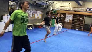 極真会館 城西世田谷東支部 の選手稽古の様子です。 3月に開催される埼...