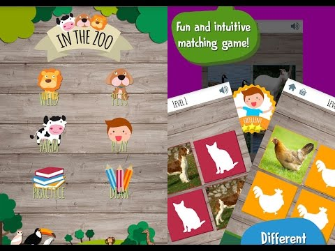 Kids Zoo Game, Memory Matching Puzzle Games, Videos Games for Kids - Girls - Baby Android Apps