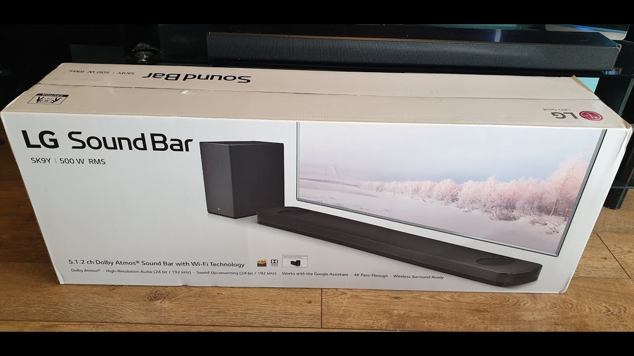 LG SK9Y Atmos Soundbar Quick Unbox, before I wall mounted it