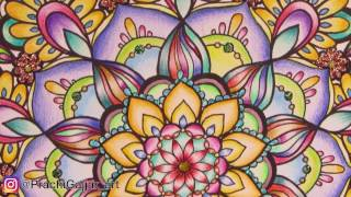 How to colour a Mandala   Colouring in Color me inspired by Kristina Webb  * Prachi Gajjar *