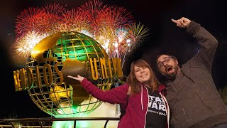 New Years Eve At Universal Hollywood: Fireworks Over Hogwarts Castle!