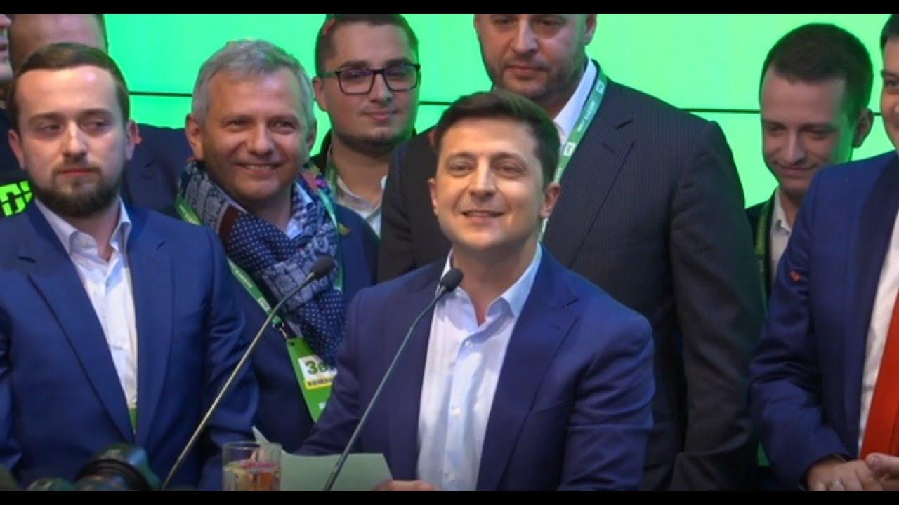 Ukrainians react as comedian wins presidential election
