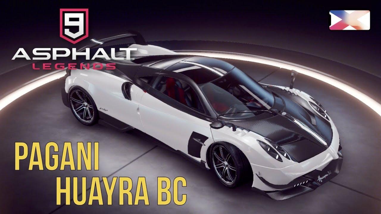 asphalt 9: legends - pagani huayra bc unlocked gameplay - youtube