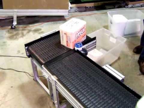 Safe Conveyor 90 Degree Corner Turn System Youtube